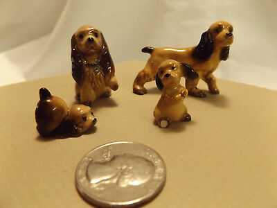 Bone China Miniature Dog & Puppy Figures COCKER SPANIEL ceramic figurine
