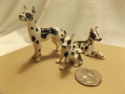 Bone China Miniature Dog & Puppy Figures DALMATION ceramic figurine