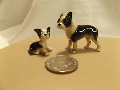 Bone China Miniature Dog & Puppy Figures BULLDOG ceramic figurine