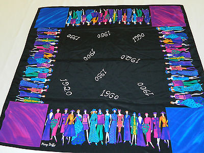"Mary Duffy Scarf Wrap Womens Historic fashions 1900-1990 36"" x 35""  Vintage 90's"