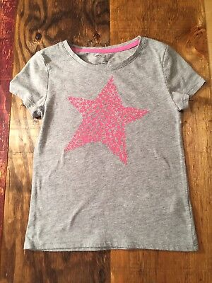 Gap Kids Grey Girls Shirt With Star Size Small 6-7 Years