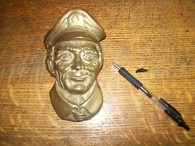 Rare Brass Door Knocker 1960s by Penco - Captain, Policeman, Pilot, Military