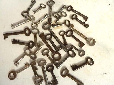 Antique Keys lot for coin cabinets boxes writing slopes ect.