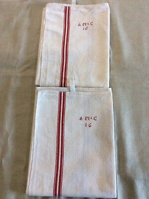 Pair of Vintage French Torchons / Tea Towels.