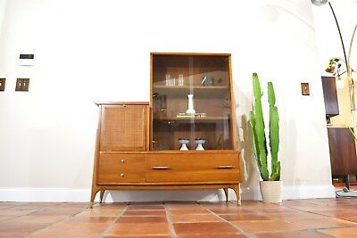 Mid Century Bar / Shelf / Bookcase / Curio Cabinet