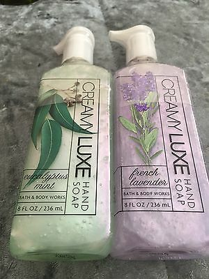 BBW Creamy Luxe Hand Soap Eucalyptus Mint/French Lavender
