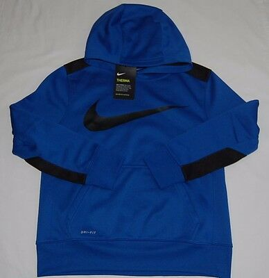New with Tag  NIKE BOYS PULLOVER TRAINING HOODIE/SWEATSHIRTS   Size L  Blue