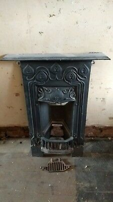Cast iron bedroom fireplace antique victorian art deco