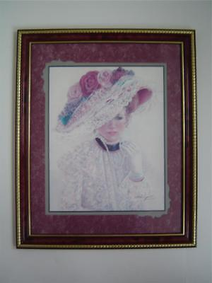 Home Interior VICTORIAN LADY HAT Print Roses Lace Thru God's Grace Bettie Felder