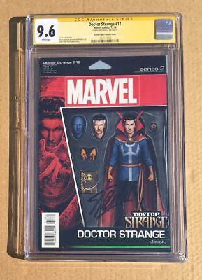 CGC 9.6 Stan Lee Signed Dr. Strange # 12 NYCC exclusive action figure Variant SS