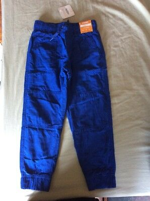 NEW Boys Size 5 Gymboree Pants BLUE Fleece Lined Gymster NWT