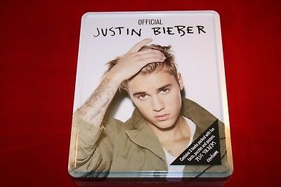 JUSTIN BIEBER Official Fans Collectors Tin Books Posters Stickers NEW