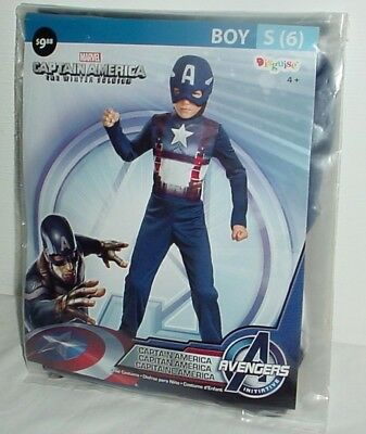 Boys Captain America Winter Soldier Costume Halloween Cosplay Small Size 6 New