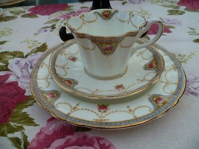 Vintage / Antique W Sons The Carlton English China Trio Tea Cup Saucer Plate