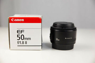 Canon EF 50mm F/1.8 II Lens with box and in great condition