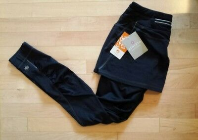 "NWT ATHLETA ""Polygiene"": Black Skirt/Leggings/Pants. Athlesiure. Run/Yoga. S."