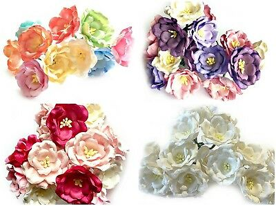 Beautiful Mulberry Paper Magnolia Flowers Wire Stem 35mm Card Making Craft