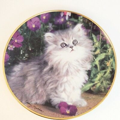Purrfection Collector Plate from Franklin Mint by Nancy Matthews