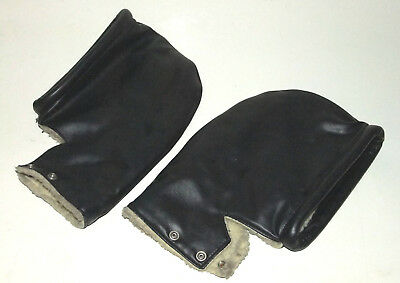 Vintage Handle Bar Grip Gloves Motorbike Scooter Triumph Vincent Bsa Norton Part