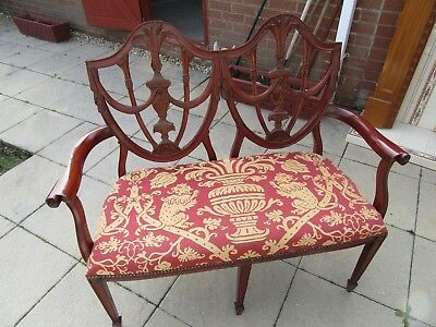 Antique style double chair settee