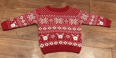 Baby Boy Next Christmas Jumper Age 12-18months
