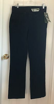02473bf2 Lee Platinum Label Smoothing Waist Pull On Barely Boot Cut Dark Navy Pants  Sz 4M
