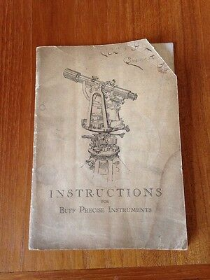 Vtg. 1925 Instructions for Buff Precise Instruments - Engineering Telescope