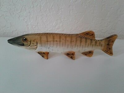 Carved Wood Fish 7 1/2""