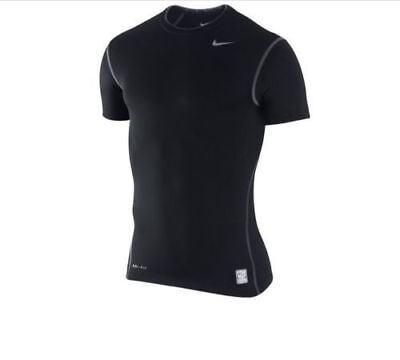 7f946dc6bb4 NWT Nike Men s Pro Core Compression Short Sleeve Shirt Tee Size L Black  269603