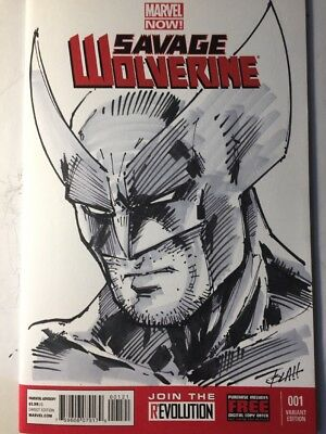 Savage Wolverine 1 Sketch Cover Variant