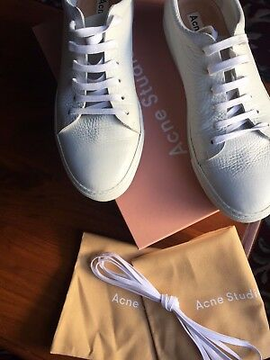 Men's white leather Acne Studios leather sneakers size 46 (US12.5)