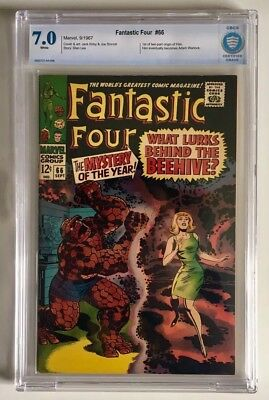 Fantastic Four 66 CBCS (Not CGC) 7.0 First app and origin of Him (Adam Warlock)