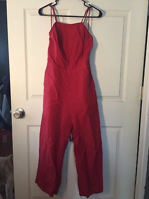 Abercrombie & Fitch Crimson Culotte Jumpsuit with tie pack, Size 2