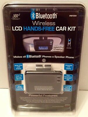 New Sealed Bluetooth VR3 Wireless LCD Hands-Free Car Kit VRBT200V