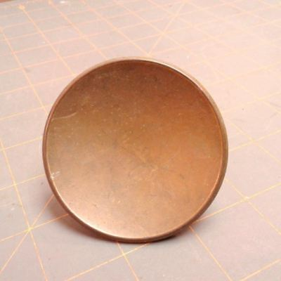 Concave Drawer Knob Pull Old Gold Mid Century Modern Mount Screw 2.50 Inches VTG