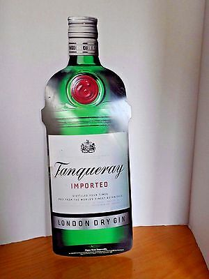 Tanqueray Gin BOTTLE Liquor Bar Advertising Wall Sign TIN METAL 19.5 INCH