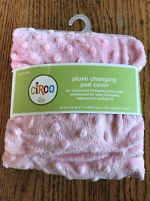 Circo Plush Changing Pad Cover Pink