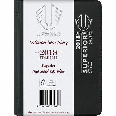 Upwards A7 Week to View 2018 Diary Black