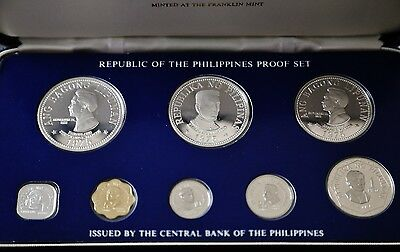 1975 Philippines Proof Set with Silver Coinage