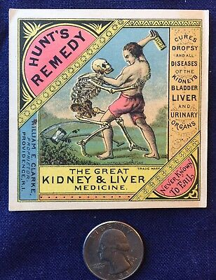 Hunt's Remedy, The Great Liver & Kidney Medicine, trade card