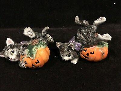 Fitz and Floyd Halloween Kitty Figurines (2)
