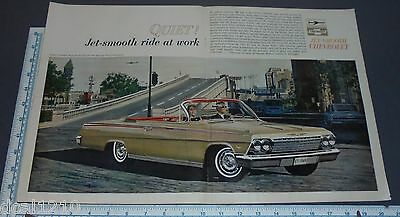 Vintage Magazine Ad - 1964 Chevrolet CHEVY IMPALA CONVERTIBLE 2 PAGE