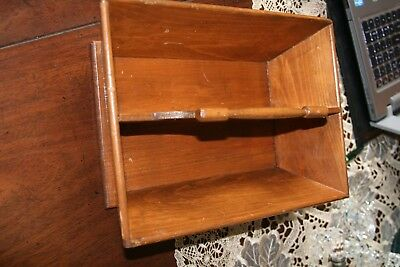 Antique Wooden Kitchen Tool Tray with Handle and Hand Made, Vintage Carry Tray