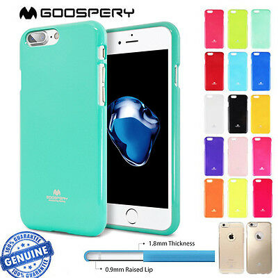 For iPhone 8 8 Plus Case for Apple Mercury Goospery Jelly Soft Rubber Cover