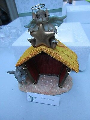 Fitz and Floyd Charming Tails Mouse A House of Blessings  NIB