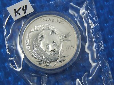 2003 Silver Panda, 1 oz Silver, In original mint package, Proof