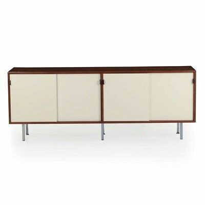 Florence Knoll Mid Century Modern Walnut Credenza Cabinet Sideboard c. 1955
