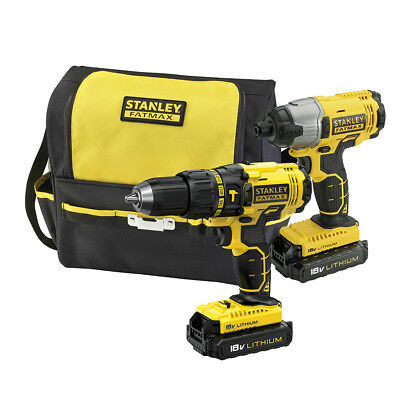 Stanley® Fatmax 18V Combo Kit Cordless Drill & Impact Driver & Batteries&Charger