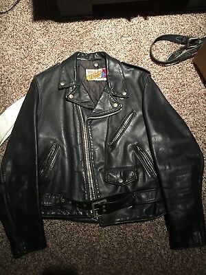 Vintage Schott Perfecto Leather Jacket Size 40 - Made In Usa