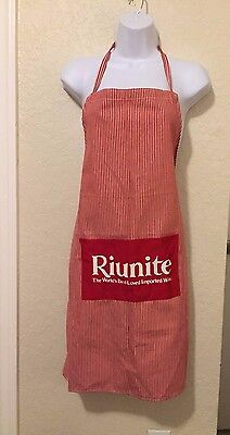 Red White Stripe Full Apron Riunite The World's Best Loved Imported Wine
